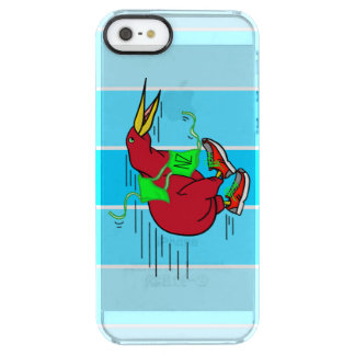 Funny Cartoon Kiwi Bird Wearing Red Running Shoes Clear iPhone SE/5/5s Case