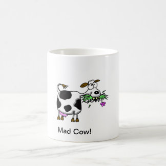 Funny Cartoon Mad Cow Mug- personalize it! Coffee Mug