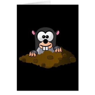 Funny cartoon mole card