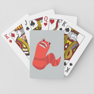 Funny Cartoon Mongolian Death Worm Playing Cards