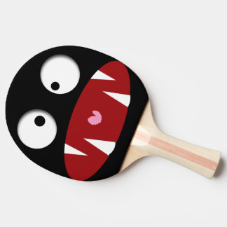 funny cartoon monster vampire face ping pong paddle