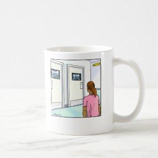 Funny Cartoon Mug- Radiology Basic White Mug