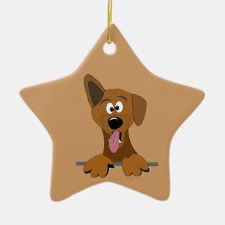Funny Cartoon Mutt Mixed Breed Poi Dog Ornament