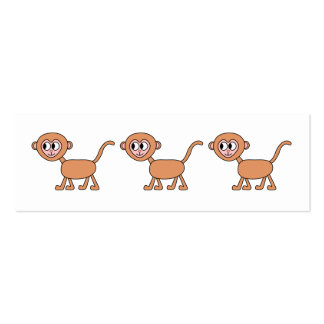 Funny Cartoon of a Monkey. Pack Of Skinny Business Cards