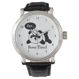 Funny Cartoon of Cute Sleeping Panda Watch