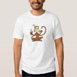 Funny Cartoon Pizza Monkey Tshirt