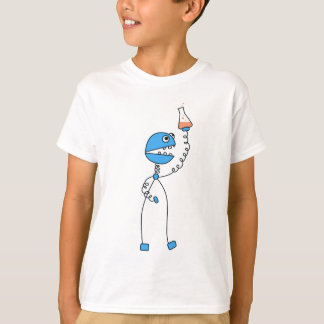 Funny Cartoon Robot Chemistry Kids T-Shirt