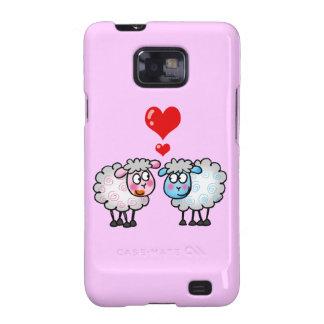 Funny cartoon sheeps Wedding couple Samsung Galaxy S Case