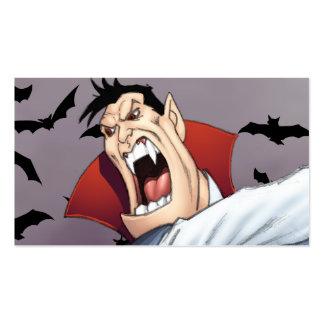 Funny Cartoon Vampire with Bats by Al Rio Business Cards