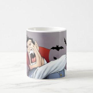 Funny Cartoon Vampire with Bats by Al Rio Mugs