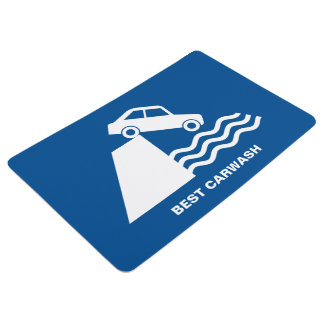 Funny Carwash Sign Floor Mat