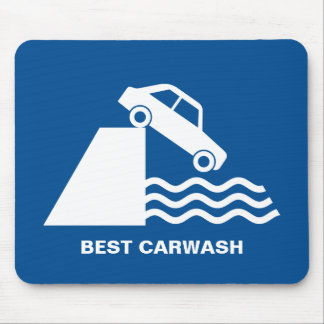 Funny Carwash Sign Mouse Pad
