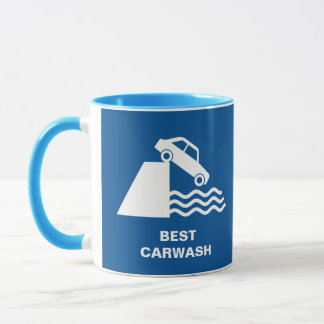 Funny Carwash Sign Mug