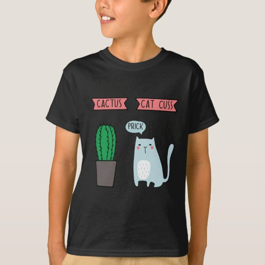 Funny cat and cactus T-Shirt