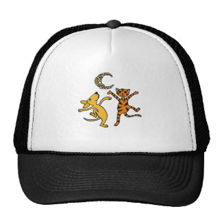 Funny Cat and Dog Dancing in the Moonlight Cap