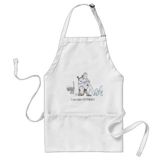 Funny cat apron