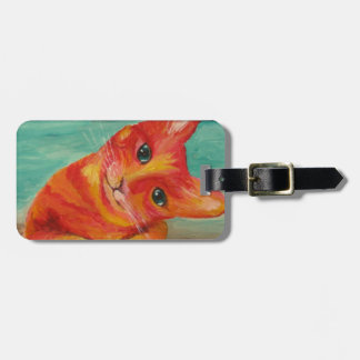 Funny Cat - baggage tag