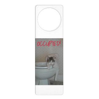 Funny Cat Bathroom Door Hanger