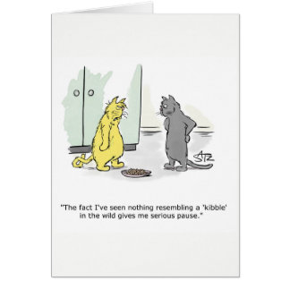 Funny cat birthday, congratulations card. card