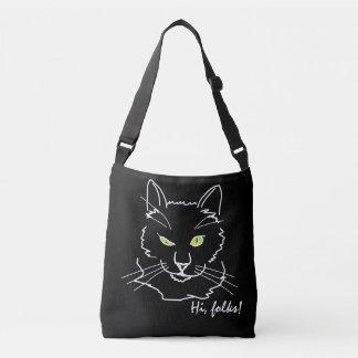 Funny Cat Black Tote Bag