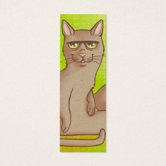 Funny Cat Bookmark Mini Business Card