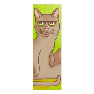 Funny Cat Bookmark Pack Of Skinny Business Cards