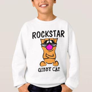 Funny Cat Boys Kids T-shirts, ROCKSTAR, Gibby Cat Sweatshirt