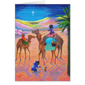 Funny Cat Christian Christmas Card Creationarts
