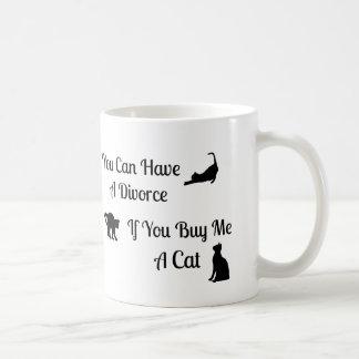 Funny Cat Divorce Mug