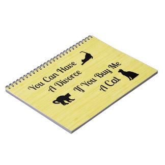 Funny Cat Divorce Spiral Notebook