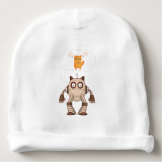Funny Cat Engineering Scientist Robot Science Baby Beanie