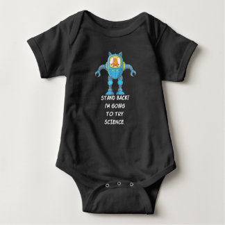 Funny Cat Engineering Scientist Robot Science Baby Bodysuit