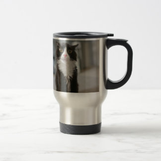 Funny Cat Face Travel Mug