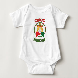 Funny Cat for Cinco de Mayo Mexican Holiday Baby Bodysuit