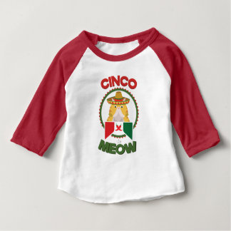 Funny Cat for Cinco de Mayo Mexican Holiday Baby T-Shirt