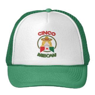 Funny Cat for Cinco de Mayo Mexican Holiday Cap