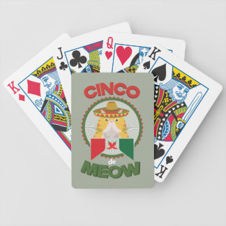 Funny Cat for Cinco de Mayo Mexican Holiday Poker Deck