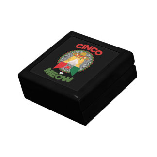 Funny Cat for Cinco de Mayo Mexican Holiday Small Square Gift Box