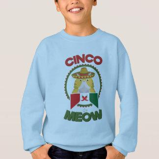 Funny Cat for Cinco de Mayo Mexican Holiday Sweatshirt