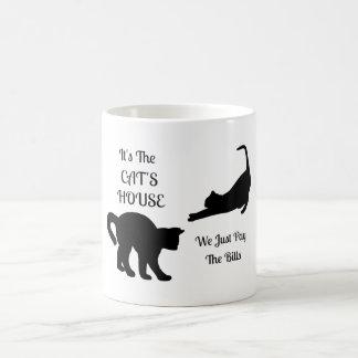 Funny Cat House Mug Basic White Mug