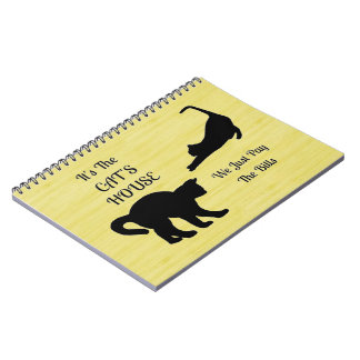 Funny Cat House Spiral Notebook