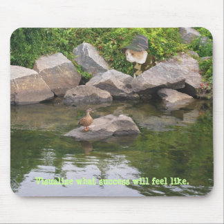 Funny Cat Hunting in Camo Mouse Pad