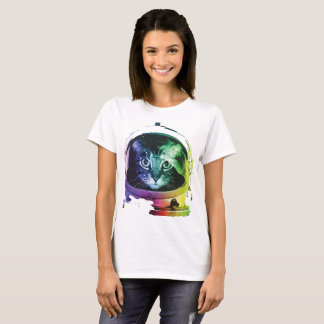 Funny Cat In Space T-Shirt