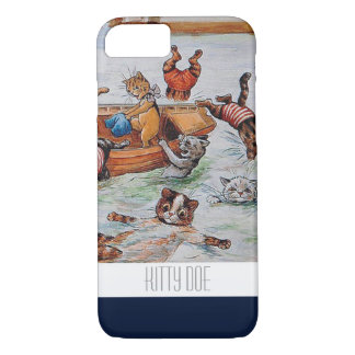 Funny Cat iPhone7 Case - Louis Wain's Boating Cats