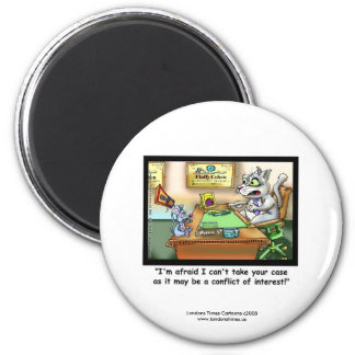 Funny Cat & Lawyer Funny Novelty Magnet Refrigerator Magnet