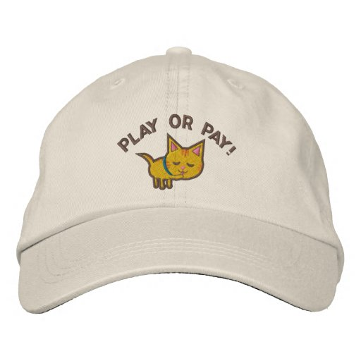 Funny Cat Lover Hat Embroidered Baseball Cap