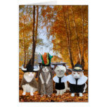 Funny Cat Lover Thanksgiving Card