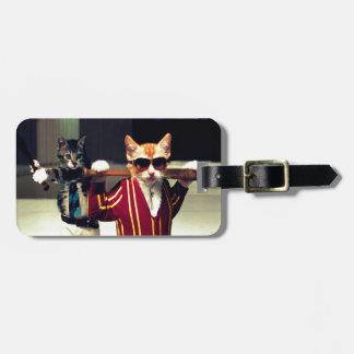 Funny cat luggage tag