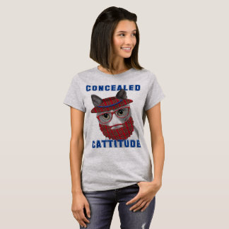 Funny Cat Meme Concealed Cattitude T-Shirt