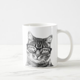 Funny cat mug | Kitten wearing nerdy glasses